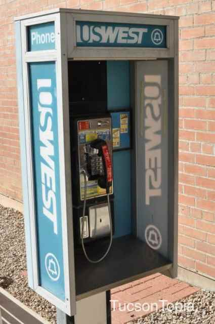 One of the last remaining pay phones in Tucson_ Himmel Park Library