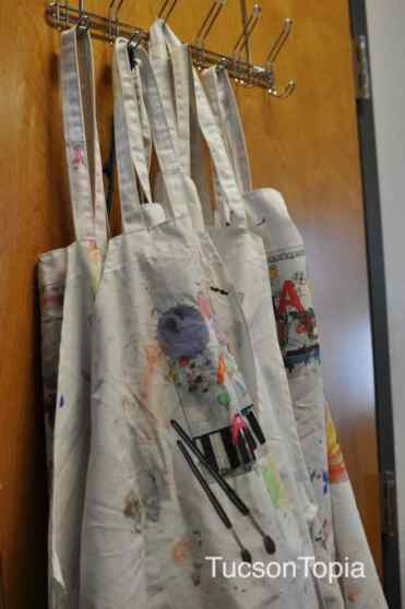 art smocks at BASIS Tucson