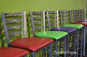 colorful chairs at AZ Air Time