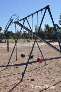 swings and slide at Himmel Park