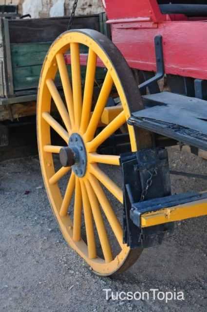 wagon wheel at Old Tucson