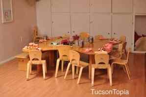 Kindergarten classrooms in Tucson Waldorf Schools don't have any desks