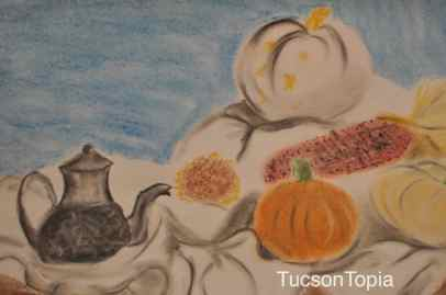 chalk drawing by a student at Tucson Waldorf School
