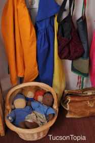 dolls and capes at Tucson Waldorf School
