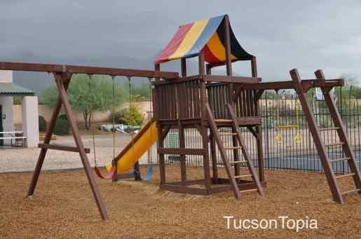 one of two playgrounds at Cornerstone Christian Academy