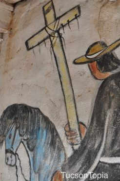 carrying the cross by DeGrazia