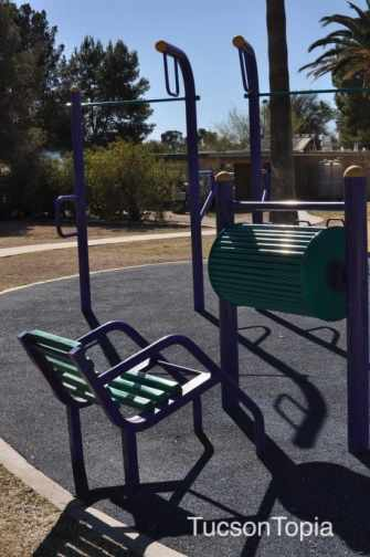 exercise equipment at La Madera Park
