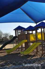 one of two playgrounds at Sonoran Science Academy Tucson