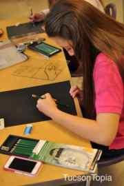 art class at Salpointe Catholic High School