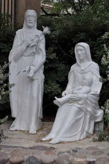 Joseph, Mary, and Jesus at Garden of Gethsemane