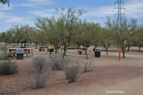 picnic tables at Garden of Gethsemane