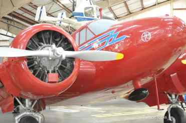 red plane at Pima Air _ Space Museum