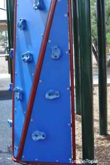 climbing wall at McDonald Park
