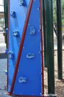 climbing wall at McDonald Park