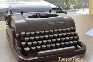 old-fashioned typewriter at UA Poetry Center