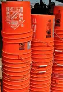 buckets at Apple Annie's