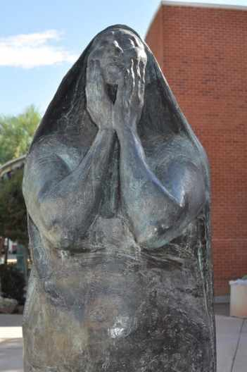 sculpture outside University of Arizona Museum of Art