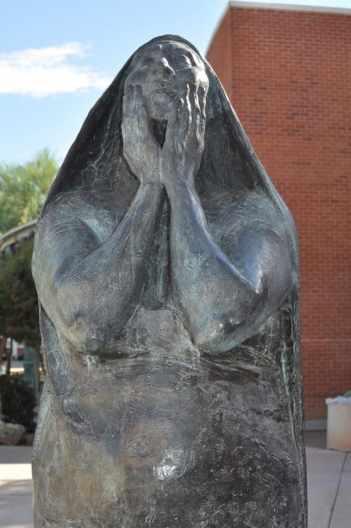 sculpture outside University of Arizona Museum of Art