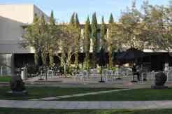 dining outside Phoenix Art Museum