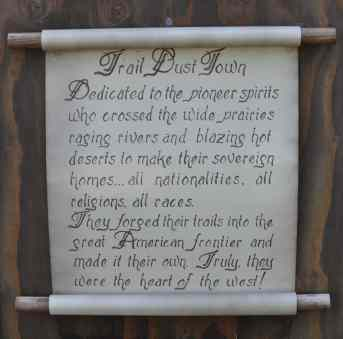 Trail Dust Town proclamation