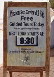 free guided tours are given regularly at Mission San Xavier del Bac