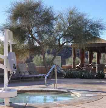 handicap accessible jacuzzi at JW Marriott Tucson Starr Pass