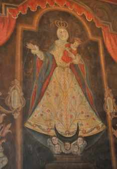 painting at Mission San Xavier del Bac