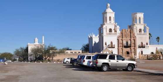 parking at Mission San Xavier del Bac