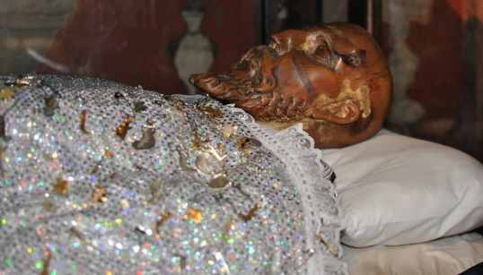 sleeping saint at Mission San Xavier del Bac