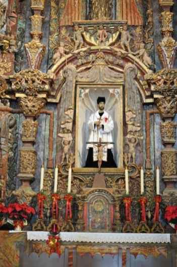 when you walk inside Mission San Xavier del Bac