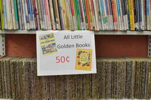 Little Golden Books at the Book Barn
