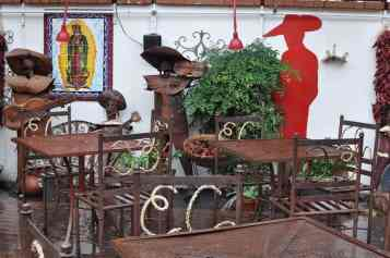 outdoor seating at El Charro