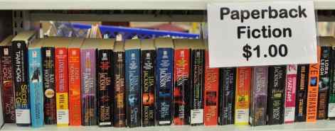 paperback fiction $1.00 at the Book Barn