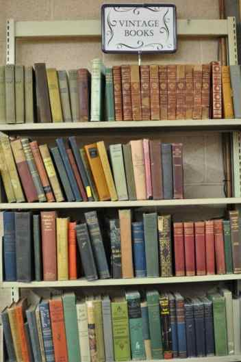 vintage books at the Book Barn