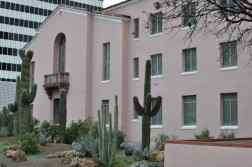 pink Pima County Courthouse