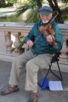musician at Balboa Park