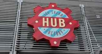 HUB Ice Cream Factory Logo