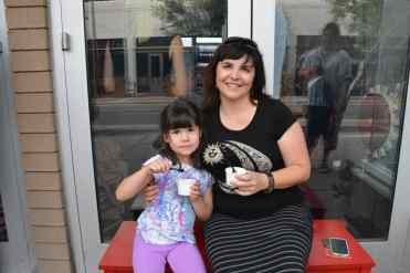 Macaroni Kid East Tucson Owner with Daughter at HUB Ice Cream Factory
