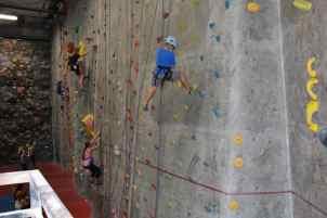action shots at Rocks and Ropes