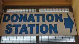 Donation Station at InJoy Thrift Store