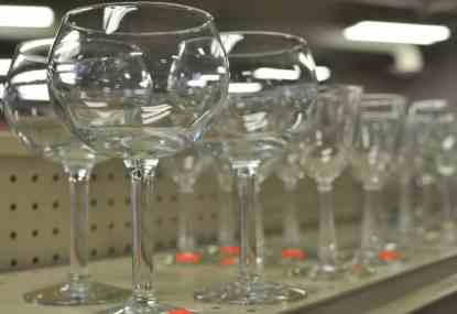 wine glasses at InJoy Thrift Store