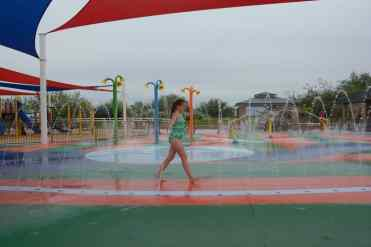 walking at Marana Splash Pad