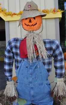 pumpkin scarecrow at LEGOLAND California