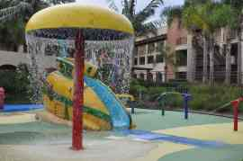 splash pad at Grand Pacific Palisades