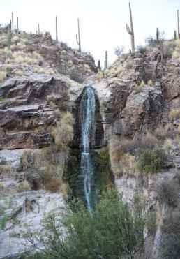 80 foot waterfall at Loews Ventana Canyon Resort