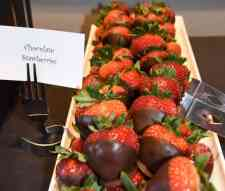 chocolate strawberries at Blues Brews BBQ buffet at Loews Ventana Canyon