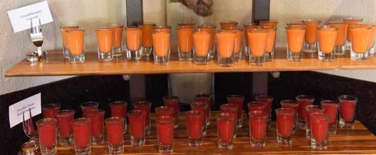 juice shots at Blues Brews BBQ at Loews Ventana Canyon Resort