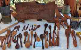 Mesquite Utensils and Boards for sale at Savor Food & Wine Festival