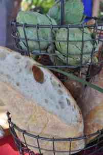 bread and artichokes at Savor Food & Wine Festival