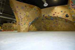 bouldering walls at the bloc